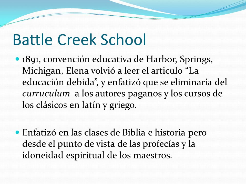 Battle Creek School