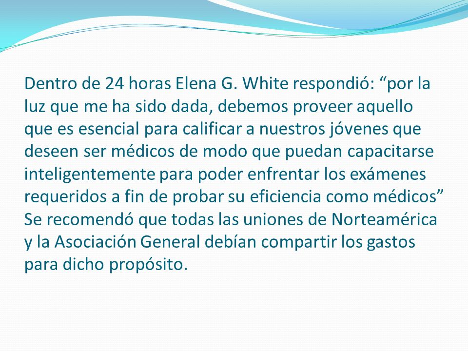 Dentro de 24 horas Elena G.