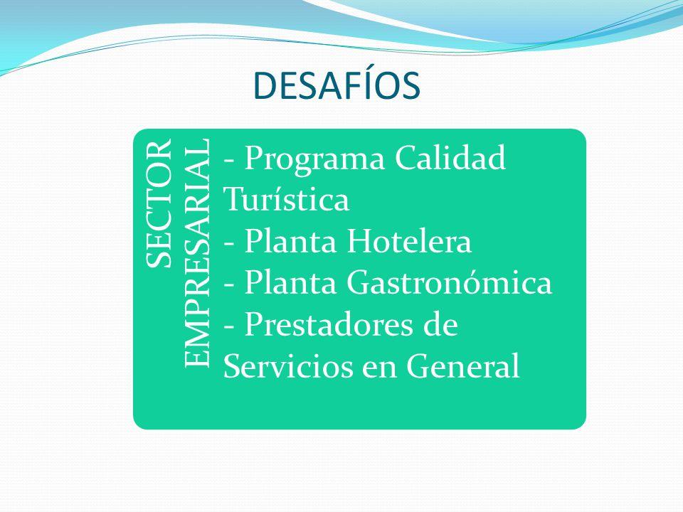 DESAFÍOS SECTOR EMPRESARIAL - Programa Calidad Turística