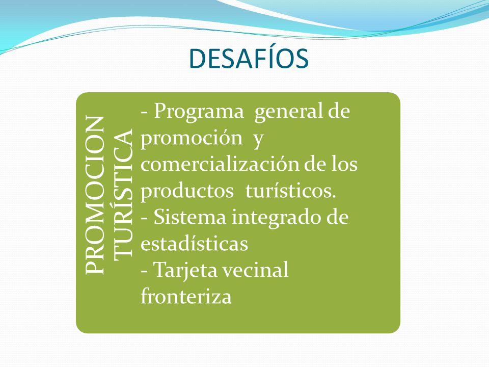 DESAFÍOS PROMOCION TURÍSTICA