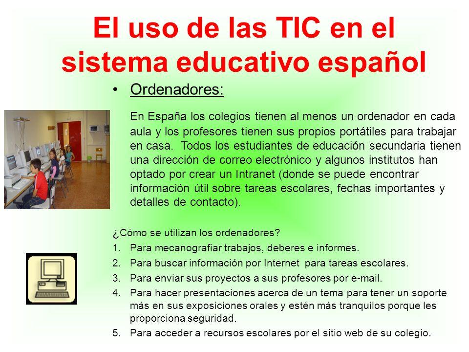 El uso de las TIC en el sistema educativo español