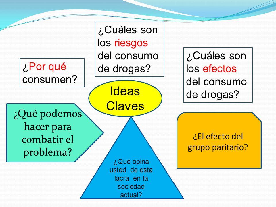 Ideas Claves ¿Cuáles son los riesgos del consumo de drogas