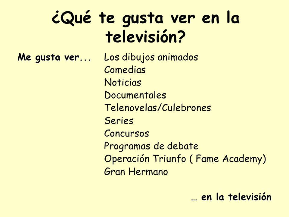 ¿Qué te gusta ver en la televisión