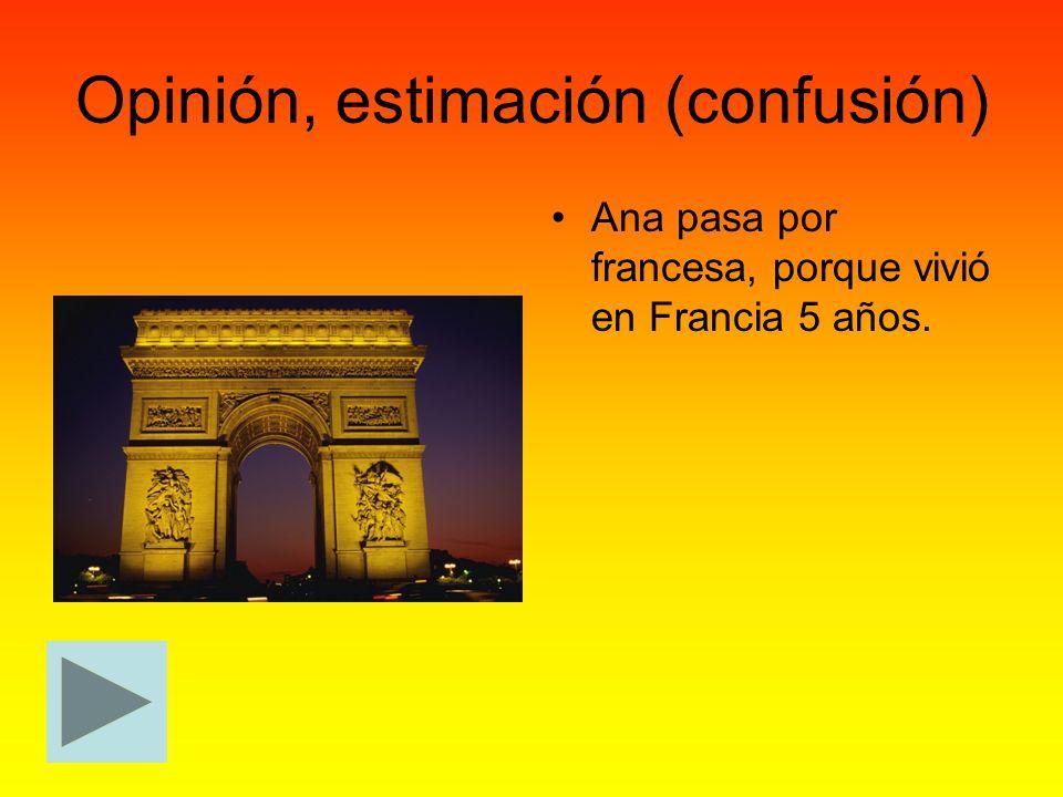 Opinión, estimación (confusión)