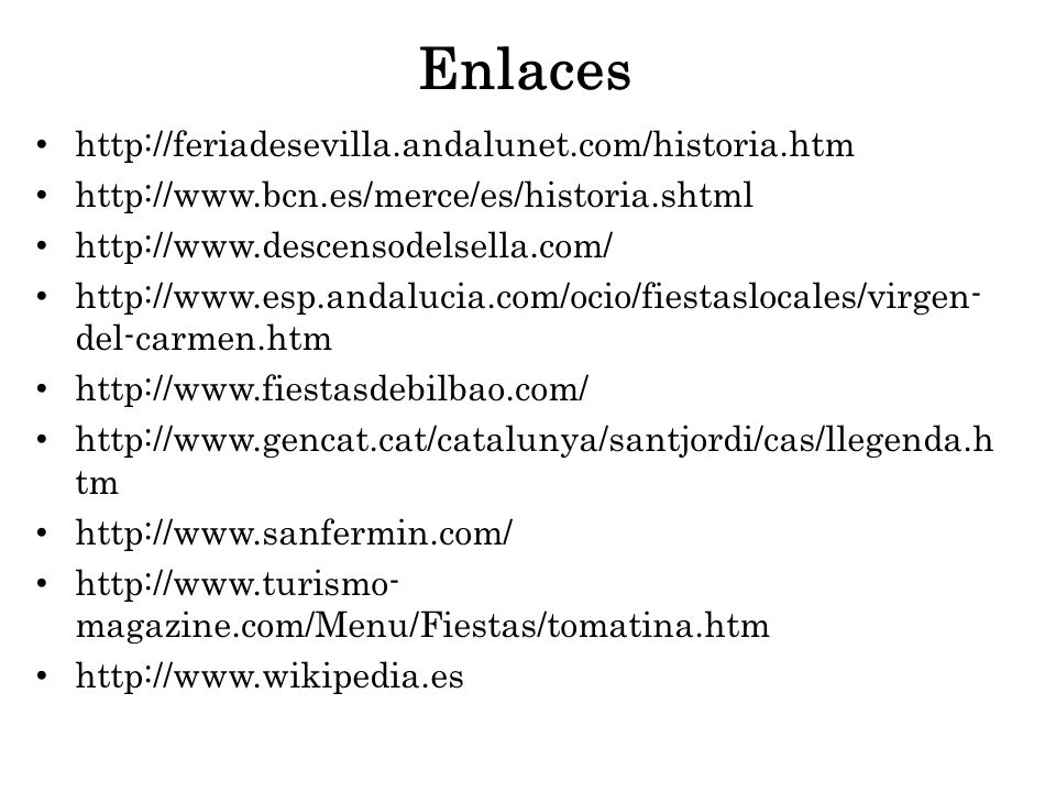 Enlaces http://feriadesevilla.andalunet.com/historia.htm