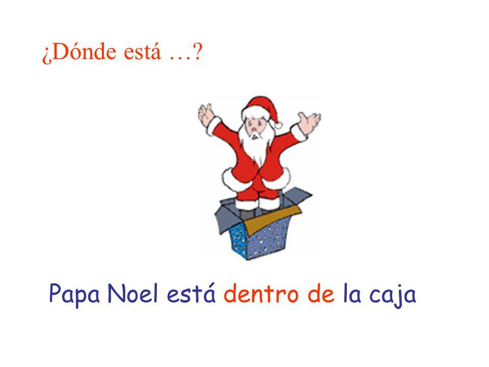 ¿Dónde está … Papa Noel está dentro de la caja
