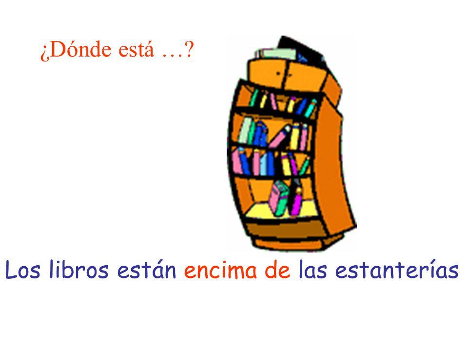 ¿Dónde está … Los libros están encima de las estanterías