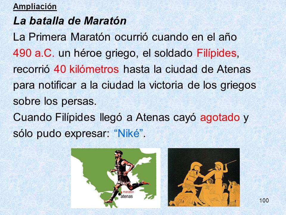 La Primera Maratón ocurrió cuando en el año