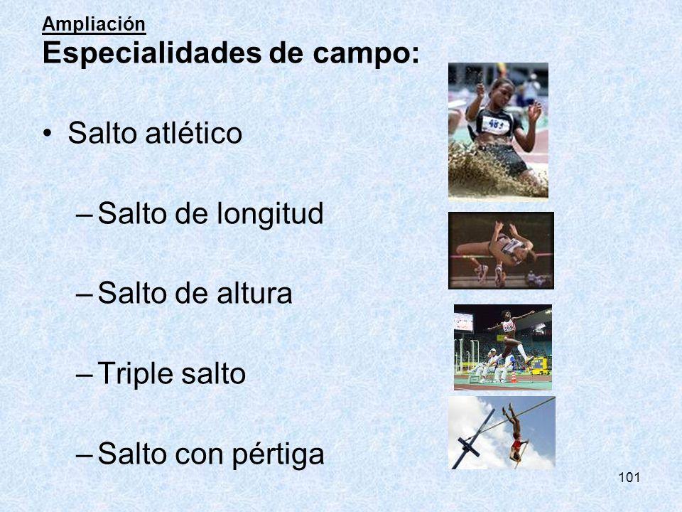 Especialidades de campo: Salto atlético Salto de longitud