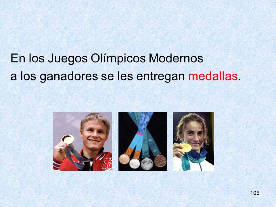 En los Juegos Olímpicos Modernos