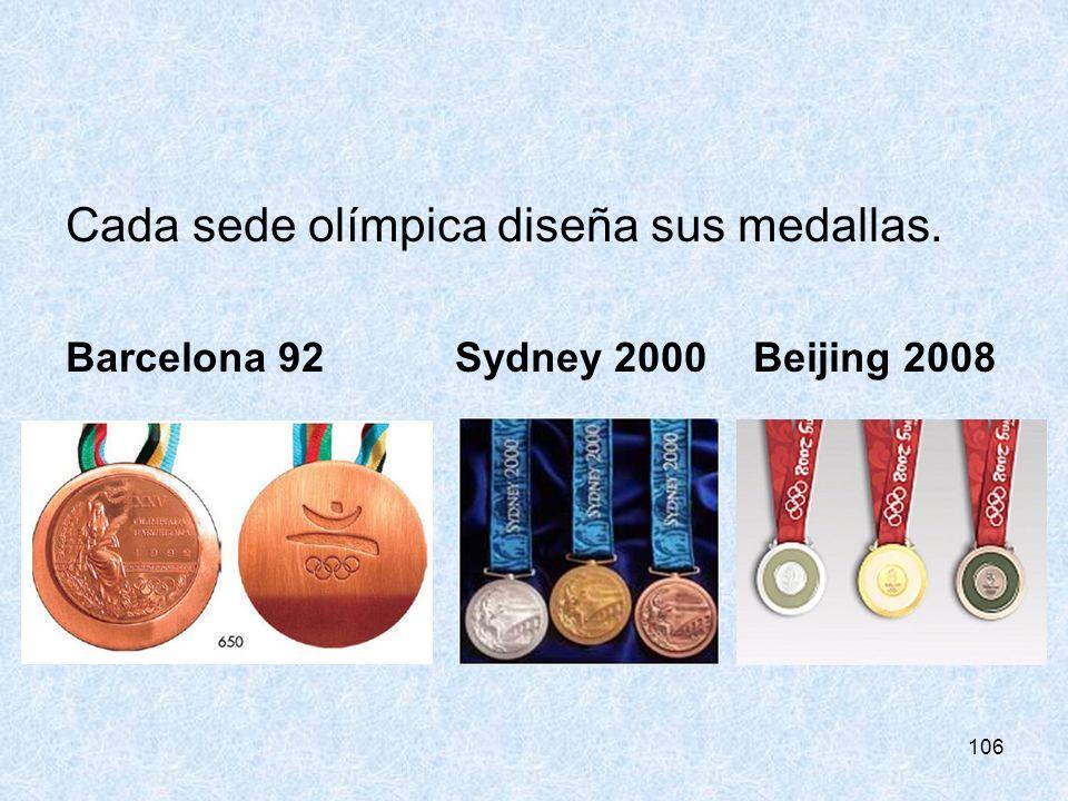 Cada sede olímpica diseña sus medallas.