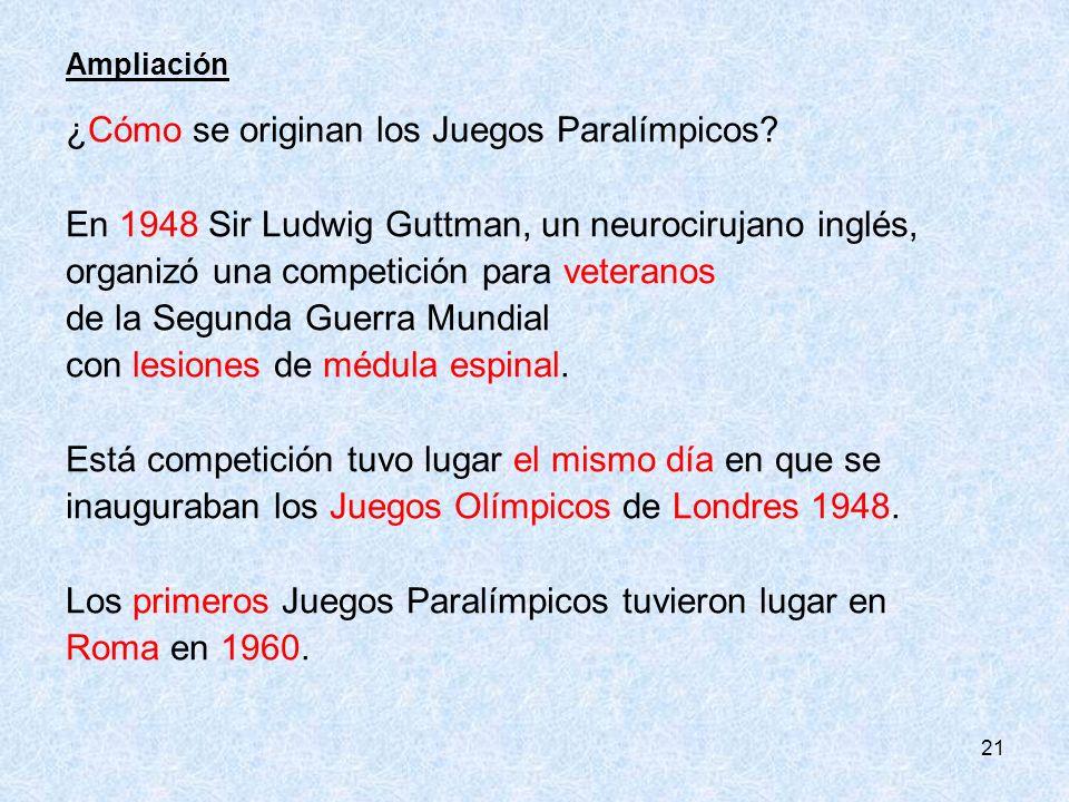 ¿Cómo se originan los Juegos Paralímpicos