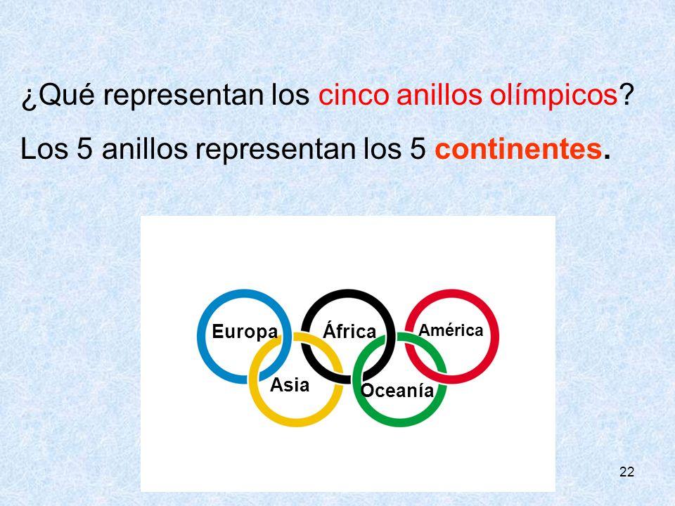 ¿Qué representan los cinco anillos olímpicos
