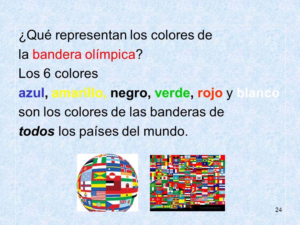 ¿Qué representan los colores de la bandera olímpica Los 6 colores