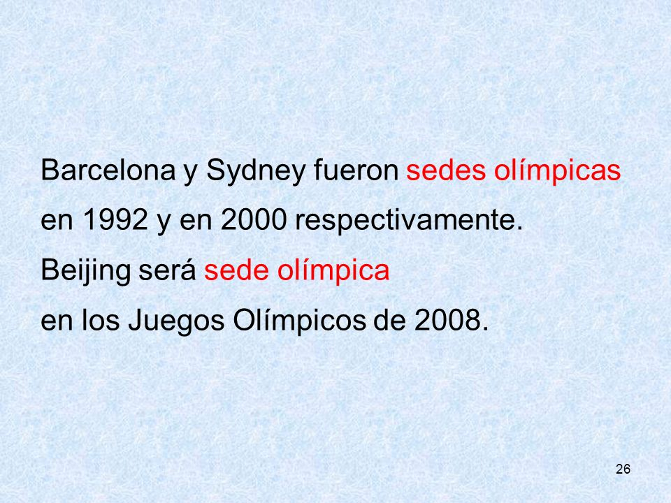 Barcelona y Sydney fueron sedes olímpicas