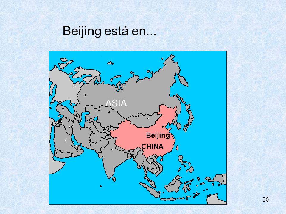CONSEJERÍA DE EDUCIÓN Beijing está en... ASIA Beijing CHINA