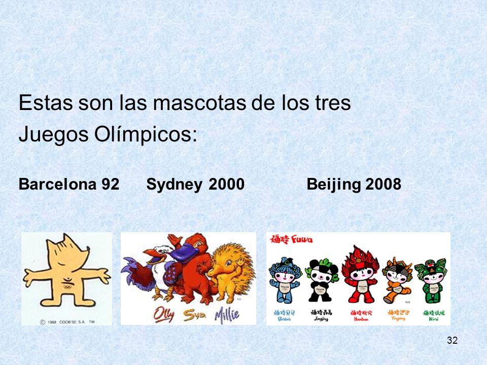 Estas son las mascotas de los tres Juegos Olímpicos: