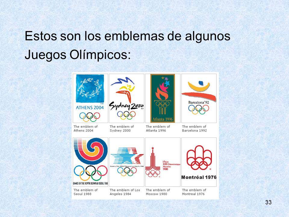 Estos son los emblemas de algunos Juegos Olímpicos: