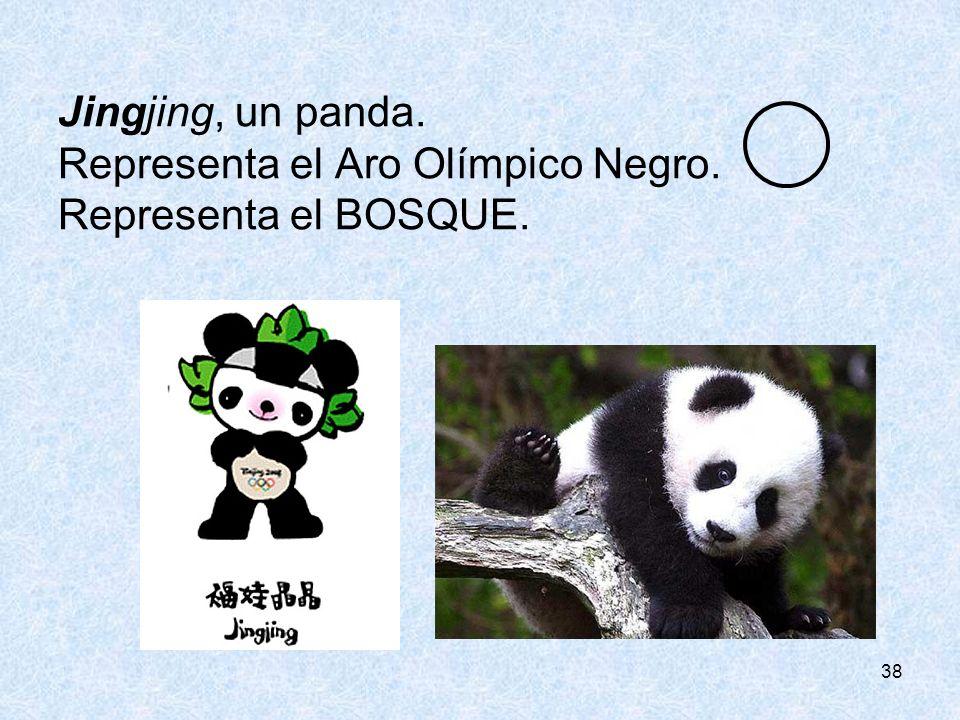 Representa el Aro Olímpico Negro. Representa el BOSQUE.
