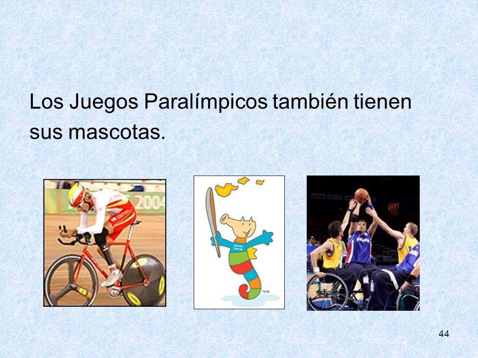 Los Juegos Paralímpicos también tienen sus mascotas.