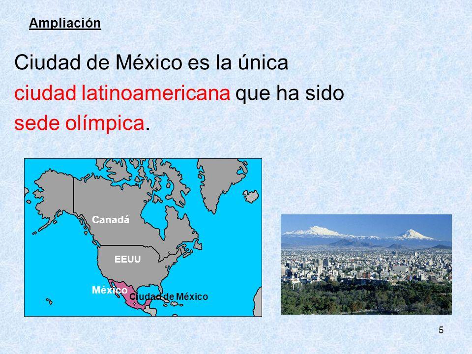 Ciudad de México es la única ciudad latinoamericana que ha sido