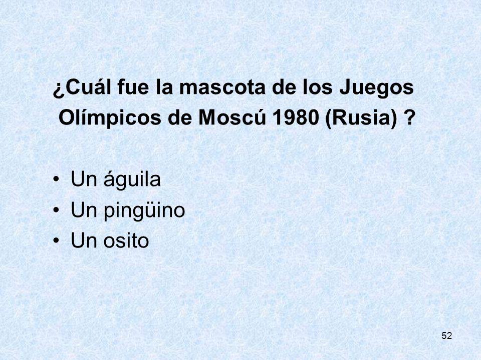 ¿Cuál fue la mascota de los Juegos Olímpicos de Moscú 1980 (Rusia)