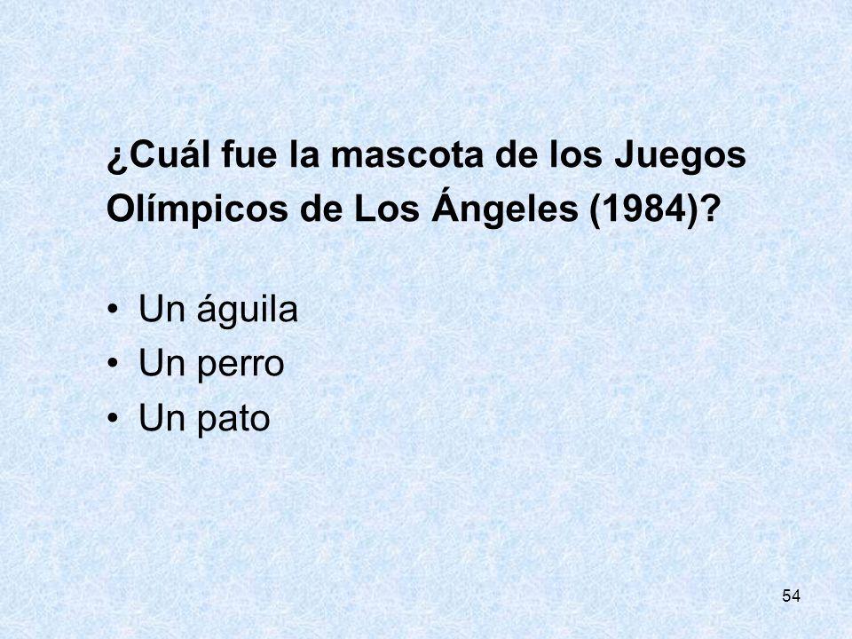¿Cuál fue la mascota de los Juegos Olímpicos de Los Ángeles (1984)