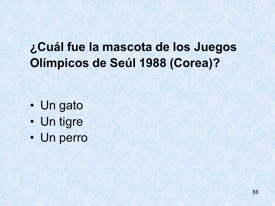 ¿Cuál fue la mascota de los Juegos Olímpicos de Seúl 1988 (Corea)