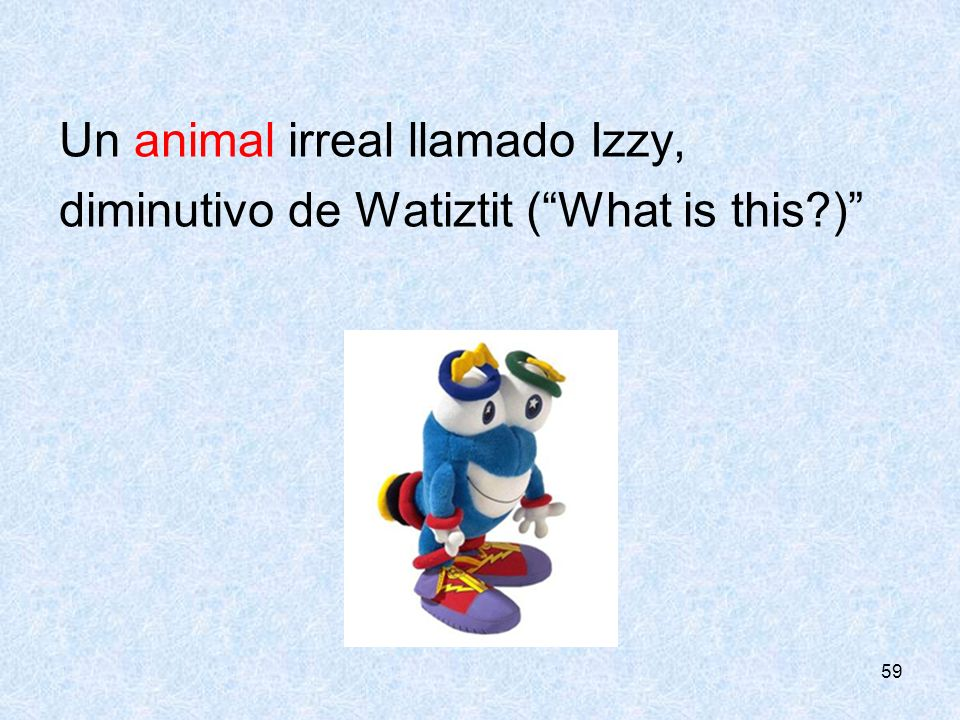 Un animal irreal llamado Izzy,