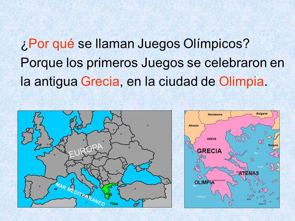¿Por qué se llaman Juegos Olímpicos