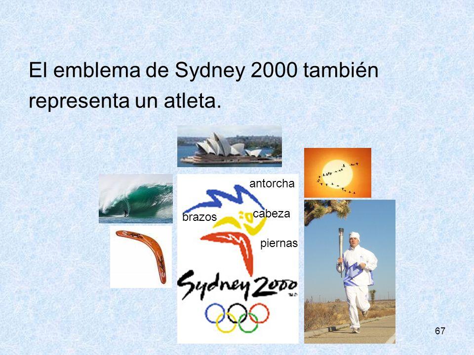 El emblema de Sydney 2000 también representa un atleta.