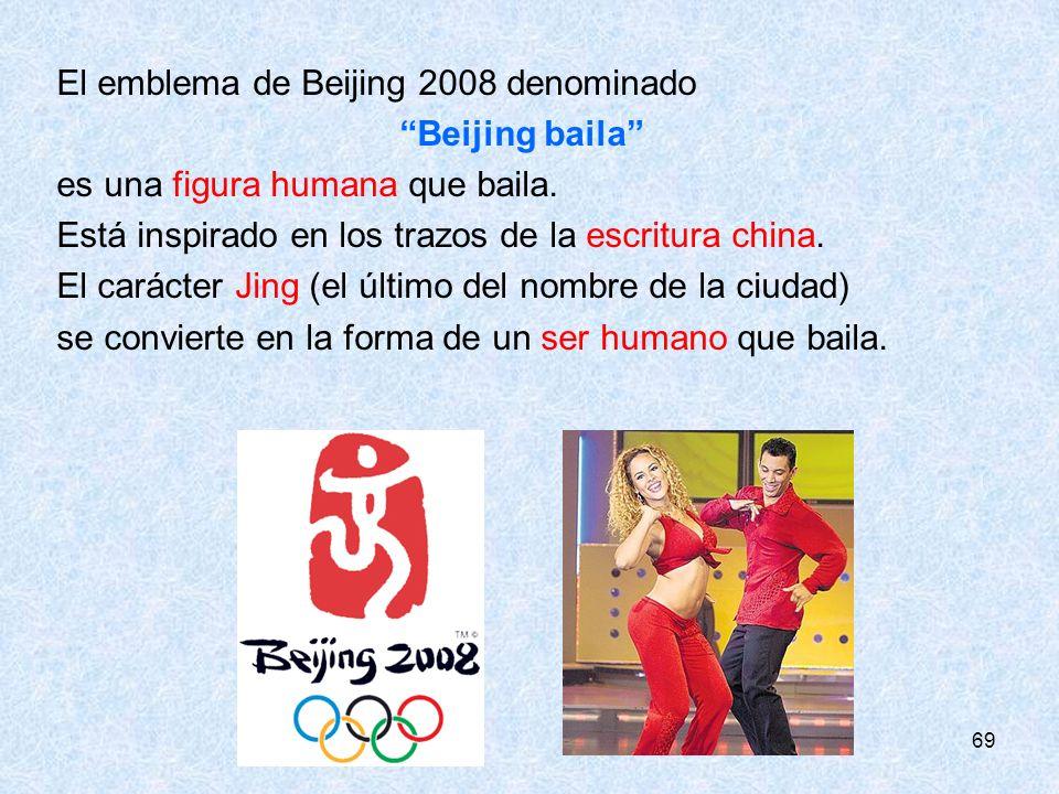 El emblema de Beijing 2008 denominado Beijing baila