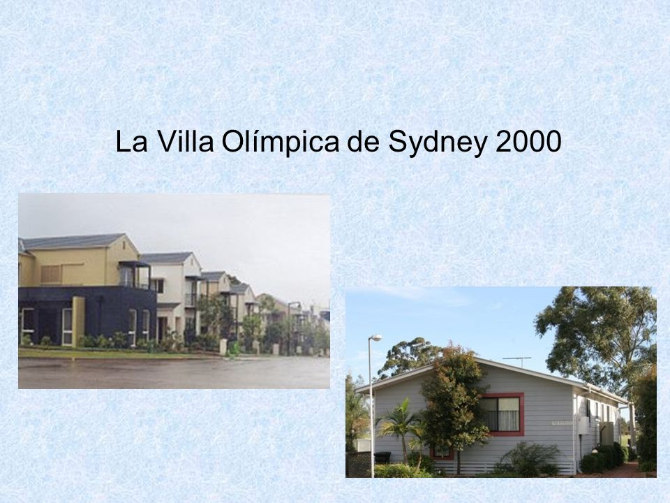 La Villa Olímpica de Sydney 2000