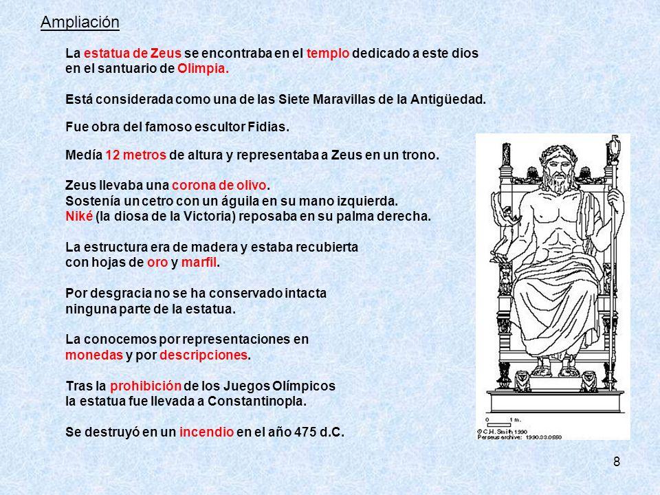 Ampliación en el santuario de Olimpia.
