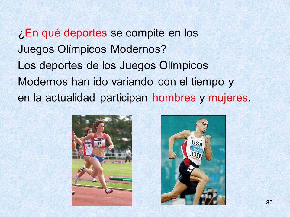 en qu deportes se compite en los juegos olmpicos modernos
