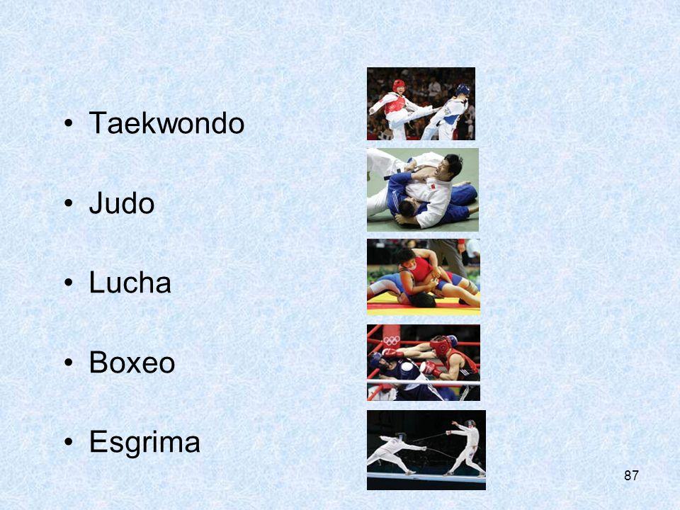 CONSEJERÍA DE EDUCIÓN Taekwondo Judo Lucha Boxeo Esgrima