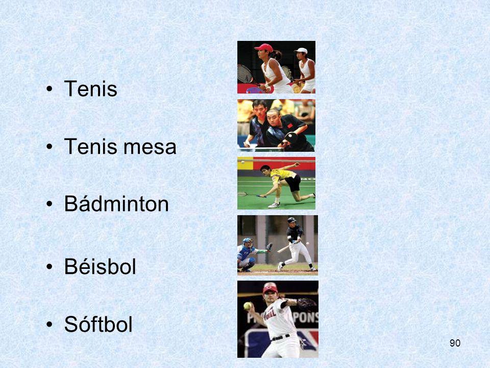 CONSEJERÍA DE EDUCIÓN Tenis Tenis mesa Bádminton Béisbol Sóftbol
