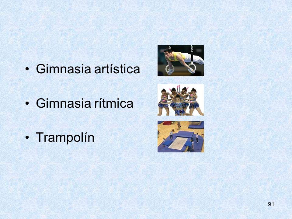 CONSEJERÍA DE EDUCIÓN Gimnasia artística Gimnasia rítmica Trampolín