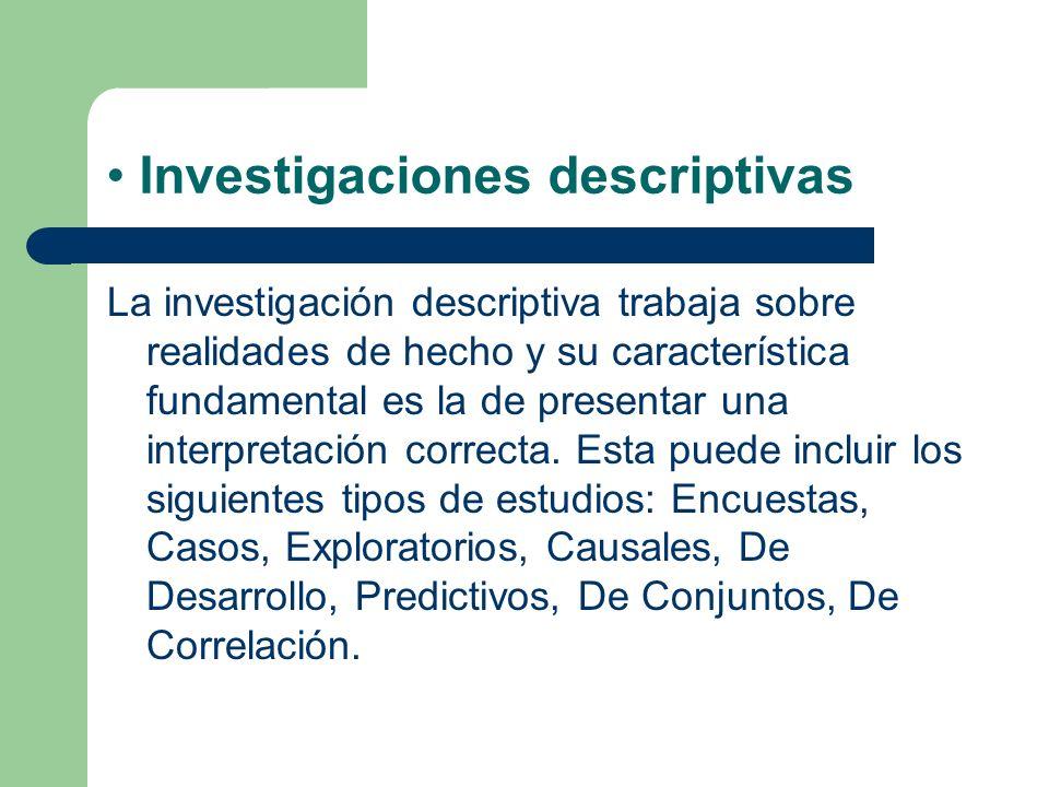 Investigaciones descriptivas