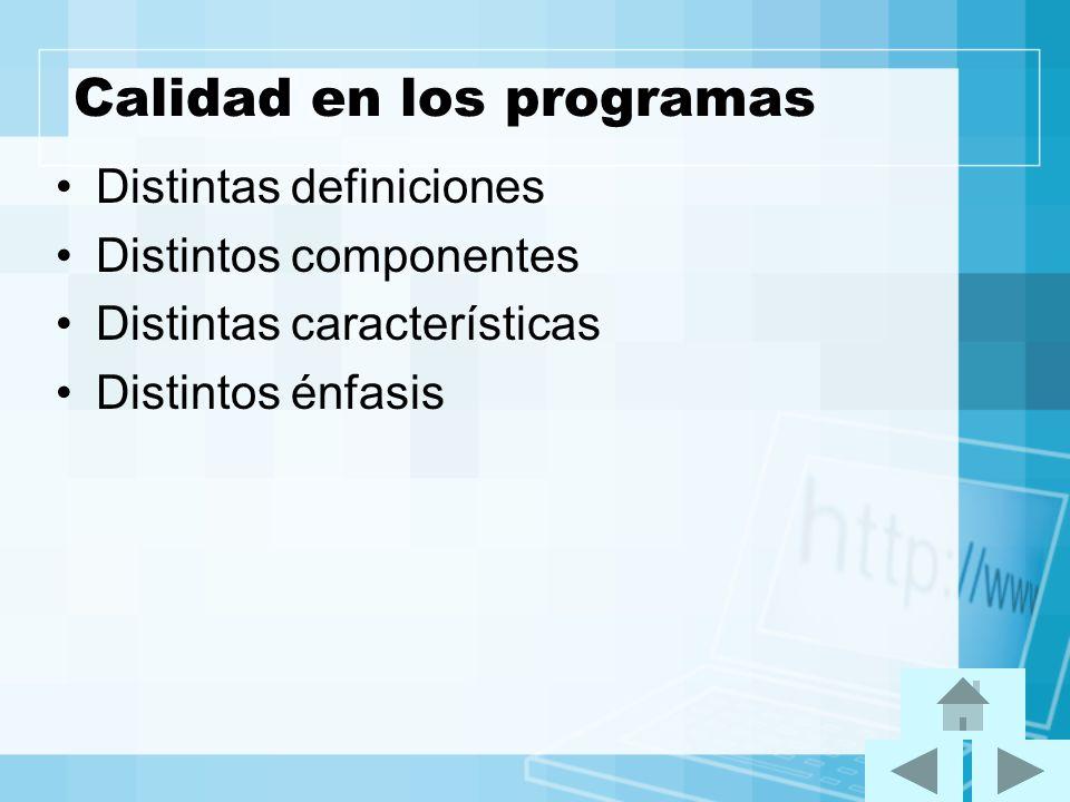 Calidad en los programas