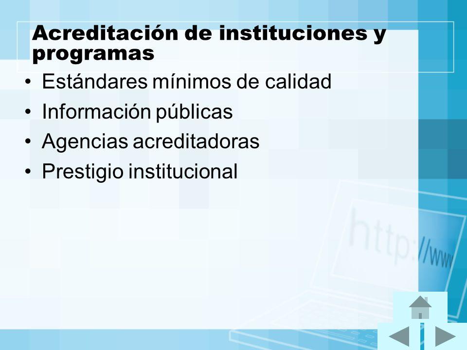 Acreditación de instituciones y programas