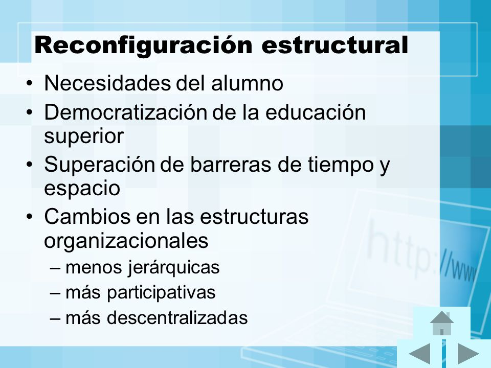 Reconfiguración estructural