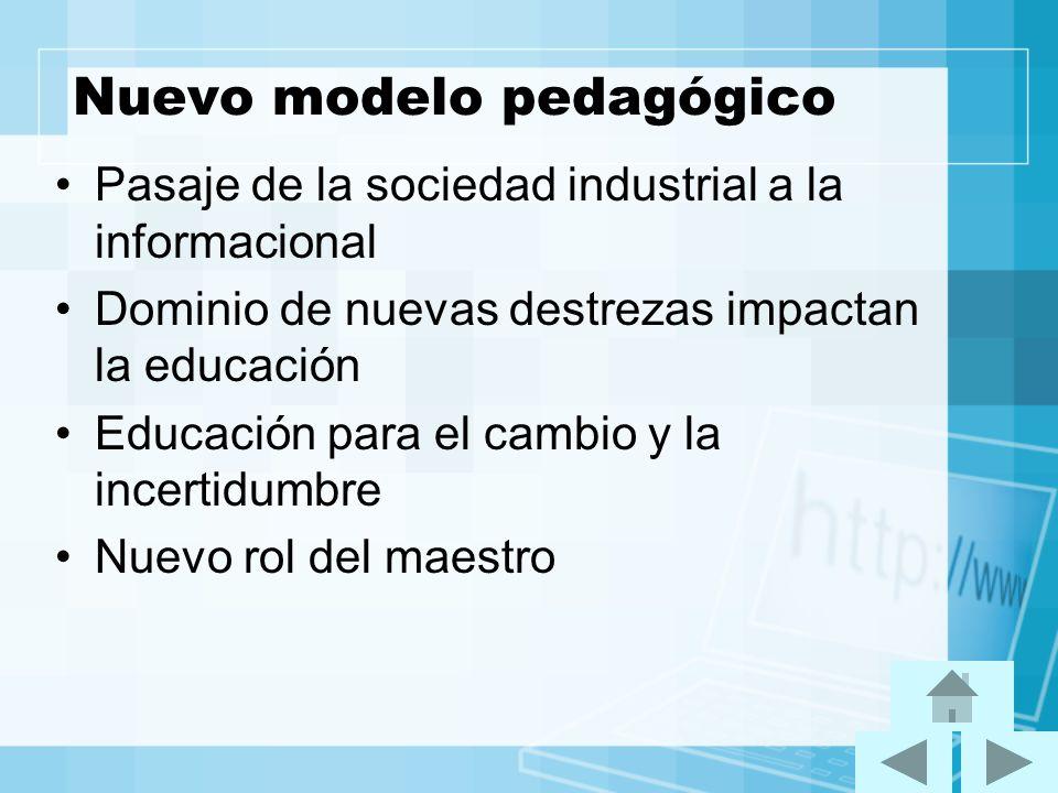 Nuevo modelo pedagógico