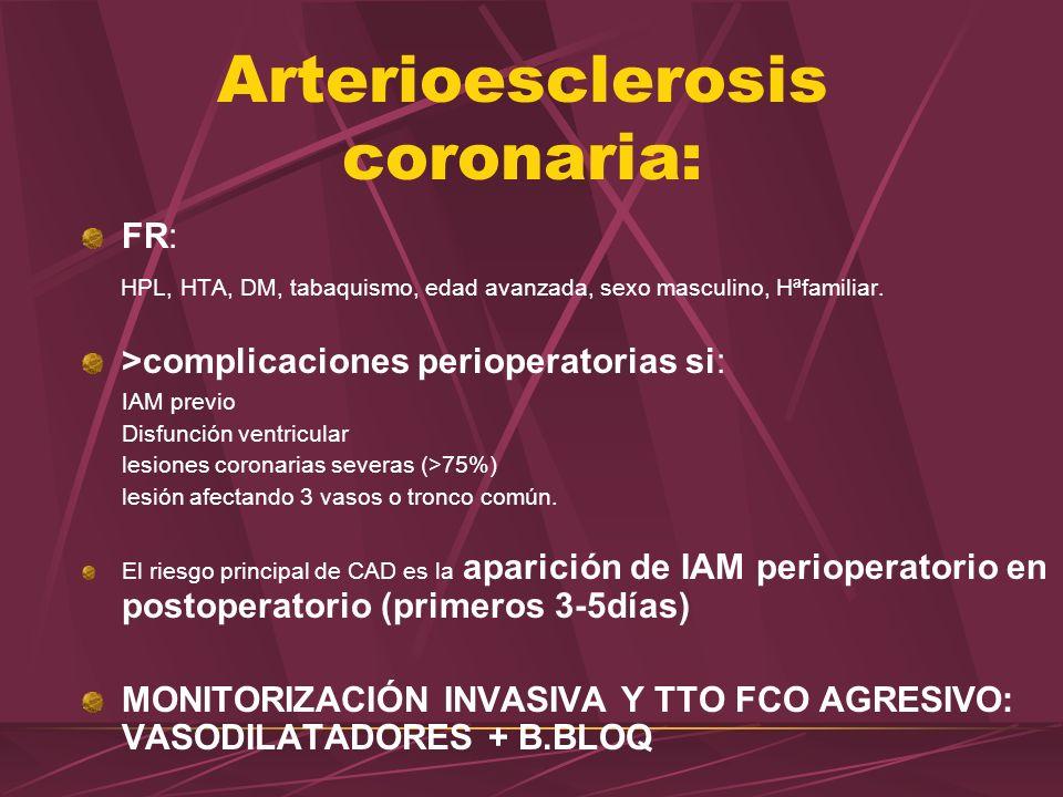 Arterioesclerosis coronaria: