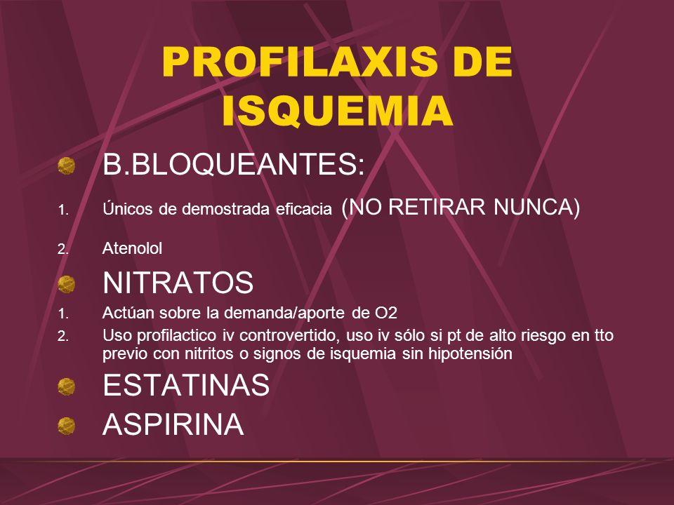 PROFILAXIS DE ISQUEMIA