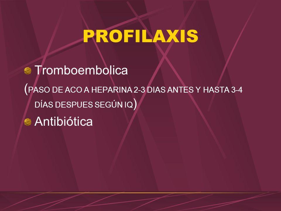 PROFILAXIS Tromboembolica