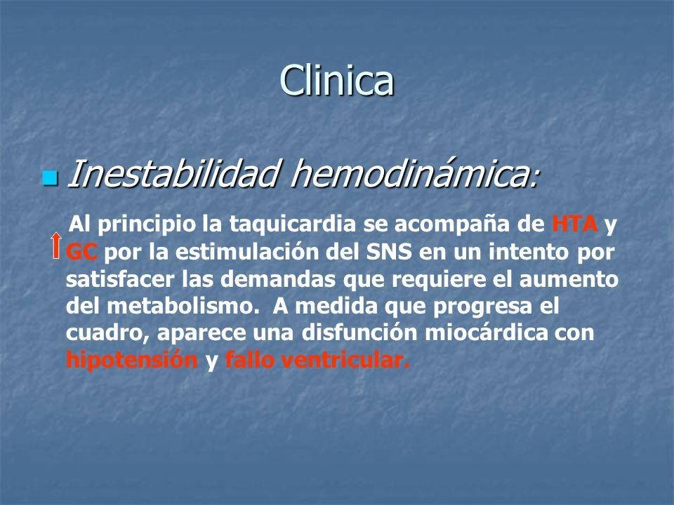 Clinica Inestabilidad hemodinámica: