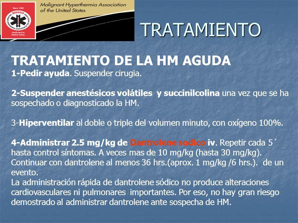 TRATAMIENTO TRATAMIENTO DE LA HM AGUDA