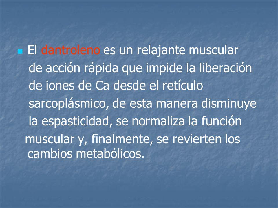 El dantroleno es un relajante muscular