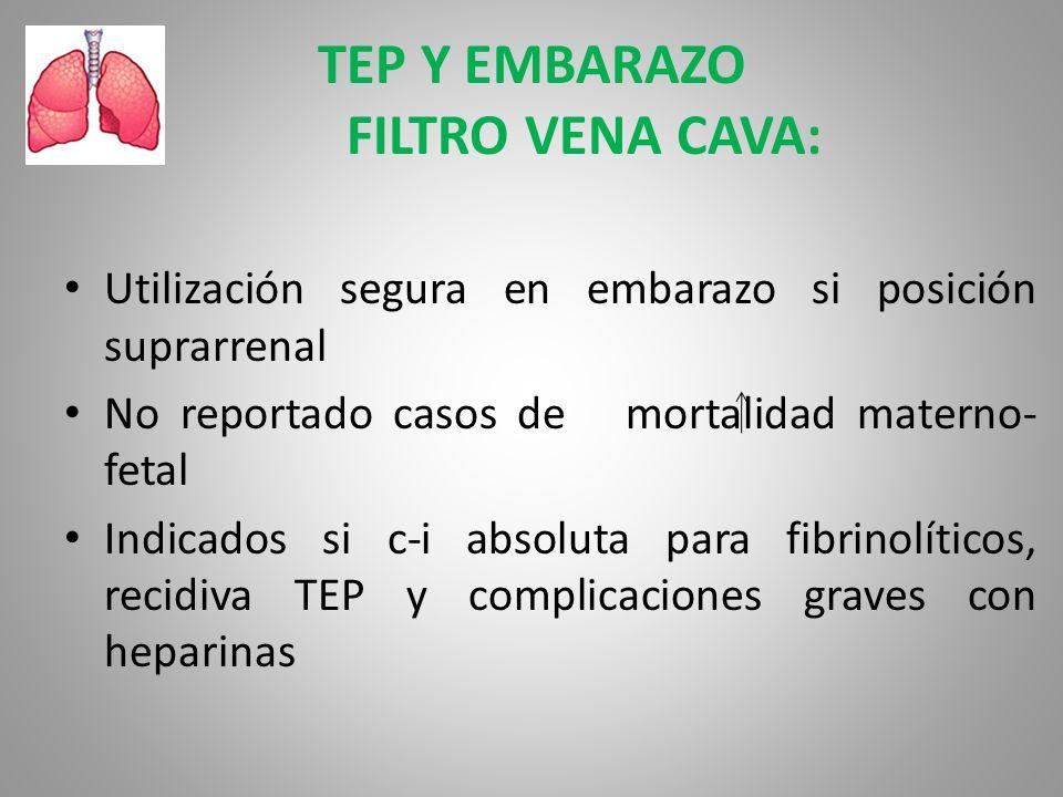 TEP Y EMBARAZO FILTRO VENA CAVA: